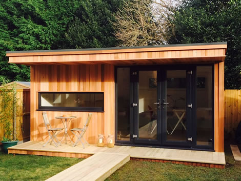 Garden Office With horizontal pannel upvc window, the end product you can expect